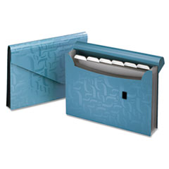 Pendaflex Essentials Essentials Expanding File, Seven Pockets, Poly, 13 1/2 x 9, Blue