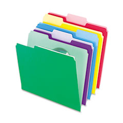 Pendaflex File Folders with InfoPocket, 1/3 Cut Top Tab, Letter, Assorted, 30/Pack