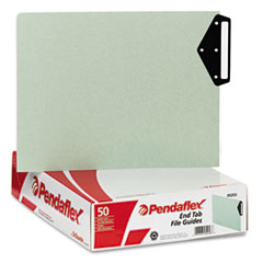 Pendaflex Green End Tab Guides, Blank Metal Tabs, Pressboard, Letter, 50/Box