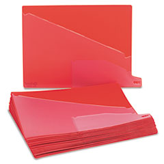 Pendaflex Vinyl Outguides, Bottom Tab Printed Out, 2 Pockets, Letter, Red, 25/Box