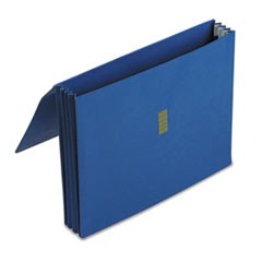 Colored Poly Wallet, 3 1/2 Inch Expansion, 11 3/4 x 9 1/2, Dark Blue