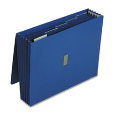 Pendaflex Colored Poly Wallet, 5 1/4 Inch Expansion, 6 Pockets, 12 x 10, Dark Blue