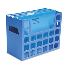 Oxford DecoFlex Letter Size Desktop Hanging File, Plastic, 12 1/4 x 6 x 9 1/2, Blue