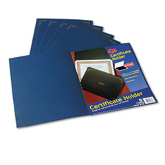 Oxford Certificate Holder, 12-1/2 x 9-3/4, Dark Blue, 5/Pack