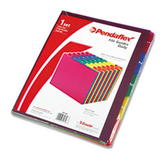 Pendaflex Top Tab File Guides, Daily, 1/5 Tab, Polypropylene, Letter, 31/Set