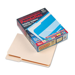 Pendaflex Interior File Folders, 1/3 Cut Top Tab, Letter, Manila 100/Box
