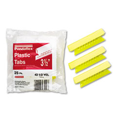 Pendaflex Hanging File Folder Tabs, 1/3 Tab, 3 1/2 Inch, Yellow Tab/White Insert, 25/Pack
