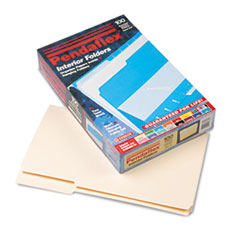 Pendaflex Interior File Folders, 1/3 Cut Top Tab, Legal, Manila, 100/Box
