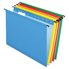 Pendaflex SureHook Hanging File Folders, Letter, Assorted, 20/Box
