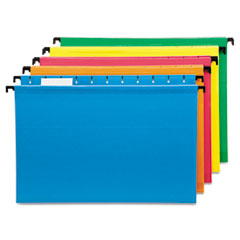 Pendaflex SureHook Poly Laminate Hanging Folders, Legal, Assorted, 20/Box