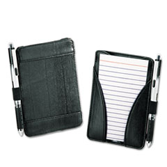 At-Hand Note Card Case Holds & Includes 25 3 x 5 Ruled Cards, Black