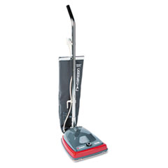 Sanitaire Commercial Lightweight Upright Vacuum, Bag-Style, 12lb, Gray/Red