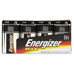 Energizer MAX Alkaline Batteries, 9V, 4 Batteries/Pack