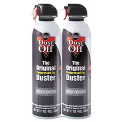 Dust-Off Disposable Compressed Gas Duster, 17 oz Cans, 2/Pack