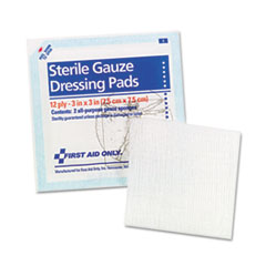 First Aid Only Gauze Pads, 3