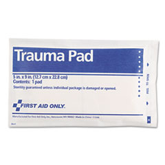 First Aid Only Trauma Pad, 5