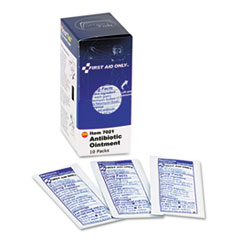 First Aid Only Antibiotic Ointment, 10 Packets/Box