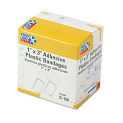 First Aid Only Plastic Adhesive Bandages, 1