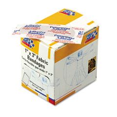 First Aid Only Fabric Bandages,1 x 3, 100/Box