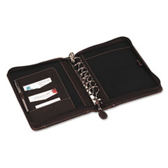 FranklinCovey Sundance Simulated Leather Organizer w/Zipper, 5-1/2 x 8-1/2, Brown