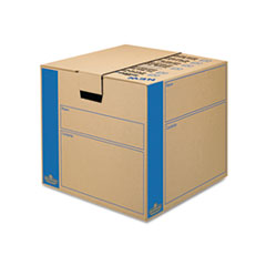 Bankers Box SmoothMove Prime Split Hinge Lid Moving Boxes, 18l x 18w x 16h, Kraft, 8/Carton