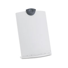 Fellowes Freestanding Desktop Copy Stand/Clipboard, Plastic, 75 Sheet Capacity, Platinum