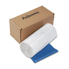 Fellowes Powershred Shredder Waste Bags, 14-20 gal Capacity, 50/CT