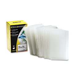 Fellowes Laminating Pouch, 10 mil, 2 1/4 x 3 3/4, Business Card Size, 100/Pack