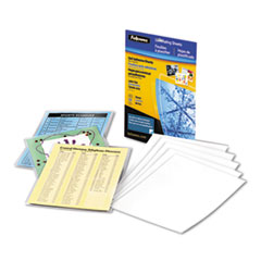 Fellowes Self-Laminating Sheets, 3 mil, 9 1/8 x 12, 10/Box
