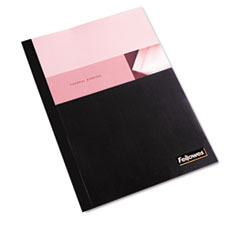 Fellowes Thermal Binding System Covers, 60 Sheets, 11-1/8 x 9-3/4, Clear/Black, 10/Pack
