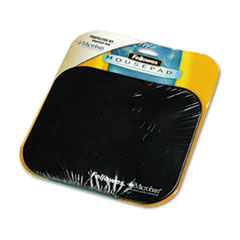 Fellowes Mouse Pad w/Microban, Nonskid Base, 9 x 8, Black