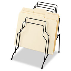 Fellowes Step File, Eight Sections, Wire, 10 1/8 x 12 1/8 x 11 7/8, Black