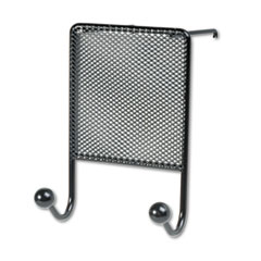 Mesh Partition Additions Double-Garment Hook, 4 1/2 x 6, Black