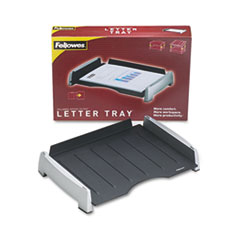 Fellowes Office Suites Side Load Letter Tray, Plastic, Black/Silver