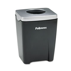 Fellowes Office Suites Paper Clip Cup, Plastic, 2 1/2 x 2 1/4 x 3 1/4, Black/Silver