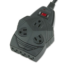 Fellowes Mighty 8 Surge Protector, 8 Outlets, 6 ft Cord, 1300 Joules, Black