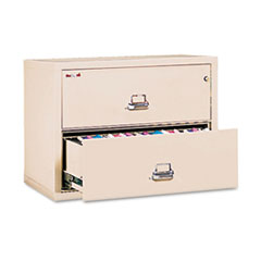 2-Drawer Lateral File, 31-1/8w x 22-1/8d, UL Listed 350°, Ltr/Legal, Parchment