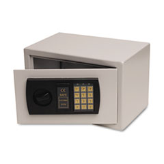 Personal Safe, .3ft3, 12-1/4w x 7-3/4d x 7-3/4h, Light Gray