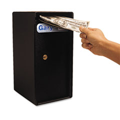 FireKing Theft-Resistant Compact Cash Trim Safe, .2 ft, 6w x 6d x 10 5/8h, Black