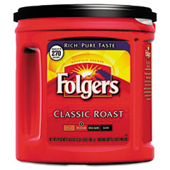 Folgers Coffee, Classic Roast Regular, Ground, 33.9 oz. Can