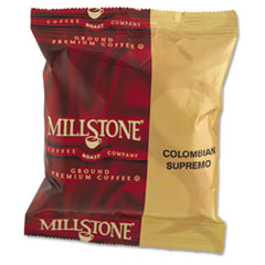 Millstone Gourmet Coffee, Colombian Supremo, 1 3/4 oz Packet, 24/Carton