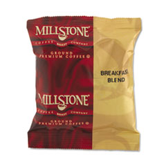 Millstone Gourmet Coffee, Breakfast Blend, 1.75 oz Fraction Pack, 24/Carton