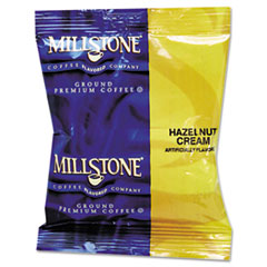 Millstone Gourmet Coffee, Hazelnut Cream, 1 3/4oz Packet, 24/Carton