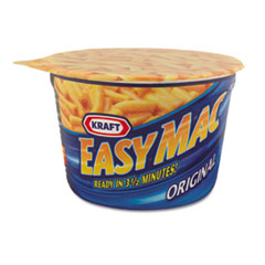 Kraft Easy Mac Macaroni & Cheese, Micro Cups, 2.05 oz., 10/Carton