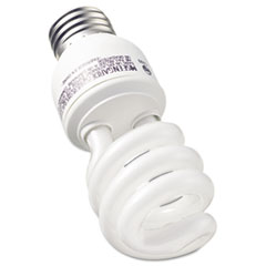 GE Compact Fluorescent Bulb, 13 Watt, T3 Spiral, Soft White, 2/Pack