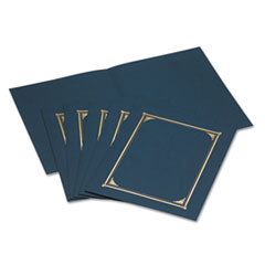 Geographics Certificate/Document Cover, 12-1/2 x 9-3/4, Navy Blue, 6/Pack