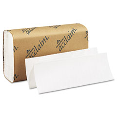 Georgia Pacific Professional Folded Paper Towel, 9 1/4 x 9 1/2, White, 250/Pack, 16 Packs/Carton