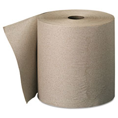envision High-Capacity Nonperforated Paper Towel Roll,7-7/8x800', Brown,6/Carton