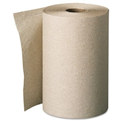 envision Unperforated Paper Towel Rolls, 7-7/8 x 350', Brown, 12/Carton