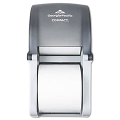 Compact Vertical Double Roll Coreless Tissue Dispenser, 6 x 6.5 x 13.5, Smoke